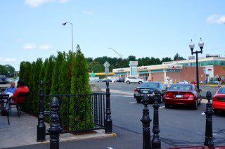 The area of the Starbucks' parking lot along Albany Avenue will be the site of the Bishops Corner Farmers' Market. Photo credit: Ronni Newton.