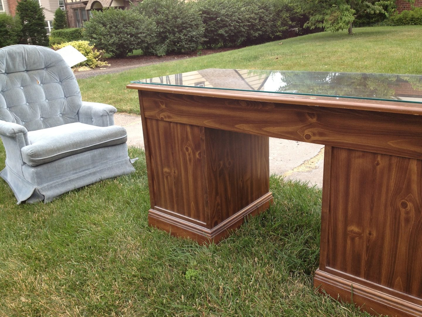 Bulky items like furniture can be picked up at the curb, but you must purchase a permit and schedule collection in advance. Photo credit: Ronni Newton