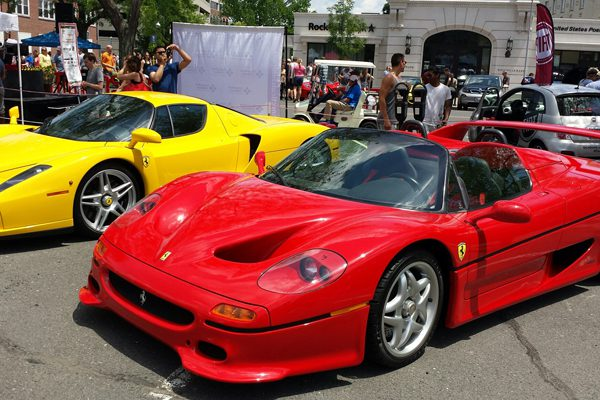 Vintage, Classic And Modern Italian Cars Lined LaSalle Road During The 14th  Annual Concorso Ferrari U0026 Friends Event On June 29, 2014. We Ha.com File  Photo