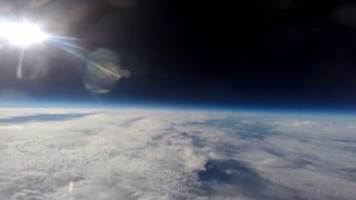 View from a gopro camera aboard the weather balloon. Submitted photo.