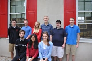 Nine seniors from Kingswood Oxford were named National Merit Commended Students; (seated, from left to right): Cole Adams, Ava Tankala, Lina Volin. (Standing, from left to right): Ryan Wetsman, Dan Melody, Katie Smith, Jacob Tvaronaitis, Robert Scappaticci, and Ben Burke. Submitted photo.