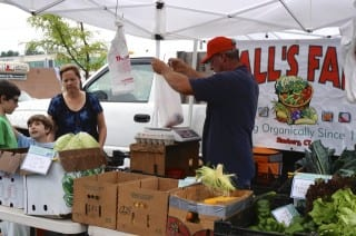 The Farmers' Market @ Bishops Corner has enjoyed a successful first season. Photo credit: Ronni Newton