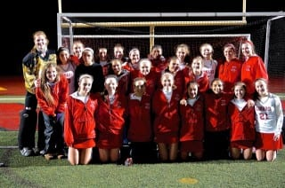 The 2014 Conard field hockey team made it to the quarterfinals of Class L. Photo credit: Ronni Newton