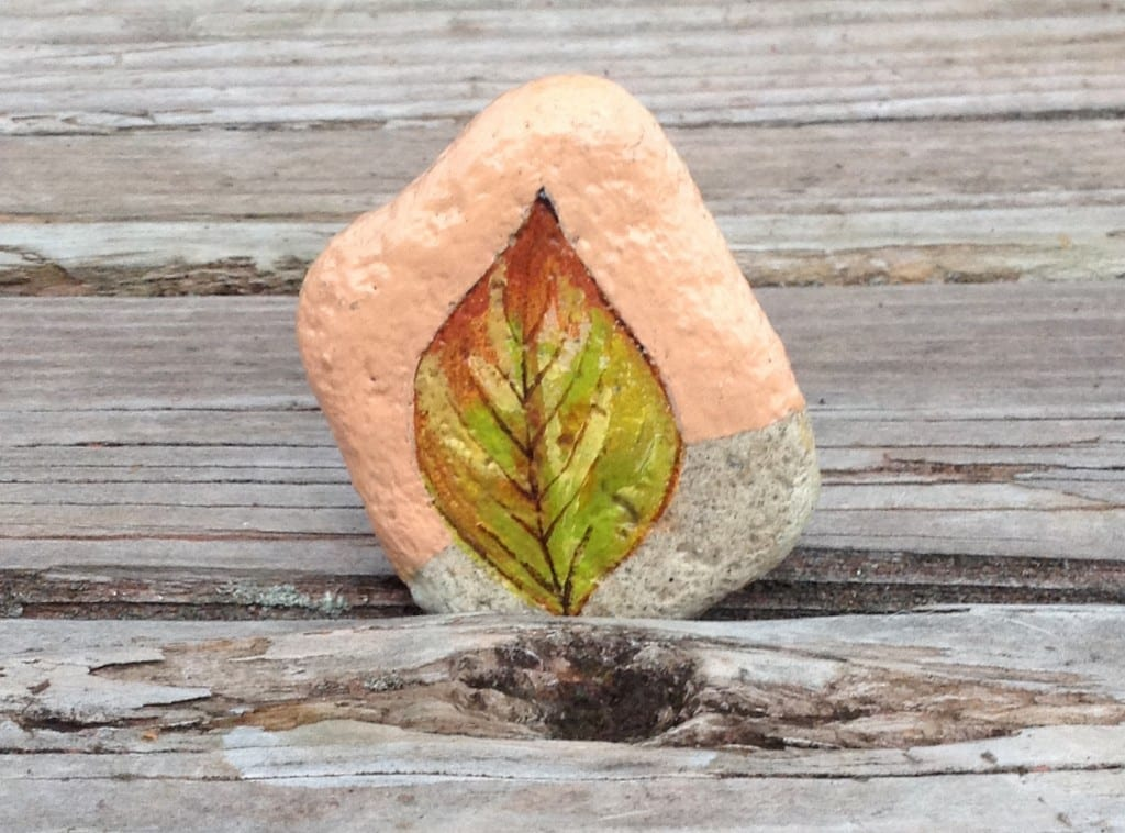 Rock painted by Hannah Dunnack Jackson. Courtesy of Julie Phillips