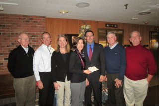Funds raised from the Rockledge Men's Club Golf Tournament were presented to the West Hartford Food Pantry. Submitted photo