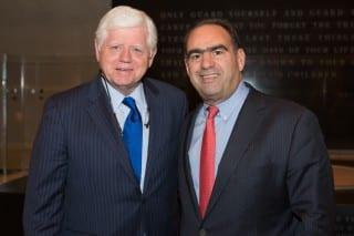 Sen. John Larson (left) with Alan Lazowski. Submitted photo