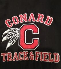 Conard High School sports teams use a variety of logos, but the Mohegans find this one acceptable because the feathers falling downward are a sign of peace. Photo credit: Ronni  Newton