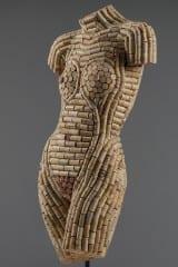 Cork sculpture by Diane Bannon. Courtesy of West  Hartford Art League