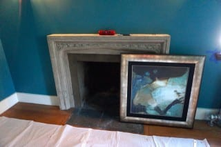 """This painting became the inspiration for the """"office"""" space the Nilsen Design is creating in the 2015 Junior League Show House. Photo credit: Ronni Newton"""