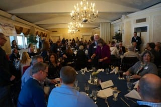 A packed house attended the West Hartford Chamber of Commerce Economic Development Luncheon Thursday at Wampanoag Country Club. Photo credit: Ronni Newton