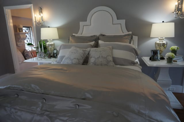 Master bedroom by Galway Stallard. 2015 Junior League Decorator Show House. Photo credit: Ronni Newton