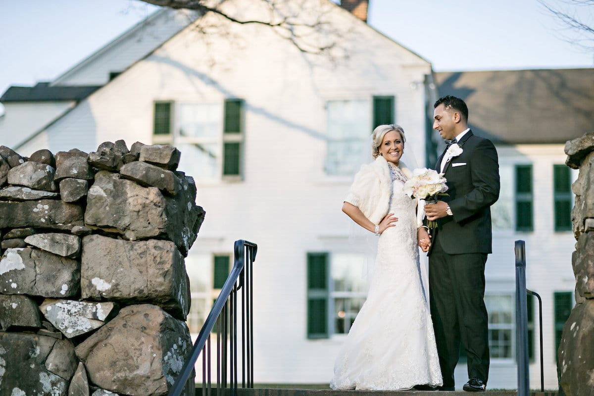 Sarah Bain and Syed Hussain were married on the grounds of the Hill-Stead Museum in Farmington. Photo by Danny Kash