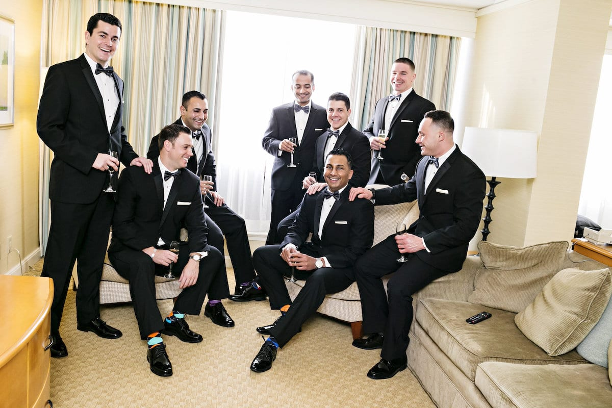 Syed Hussain with his groomsmen. Photo by Danny Kash