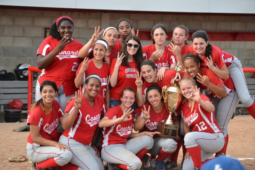 Conard softball wins the West Hartford Mayor's Cup on May 26, 2015. Photo credit: Liz Proietti