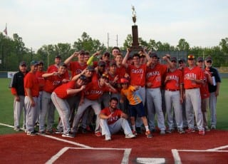 Conard baseball wins the Mayor's Cup trophy for the first time since the tradition was established in 2012. Photo credit: RonnI Newton