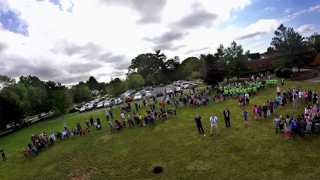'Waving goodbye!' Image from Conard weather balloon.