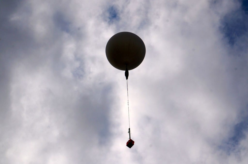 Conard's balloon is airborne. Photo credit: Ronni Newton