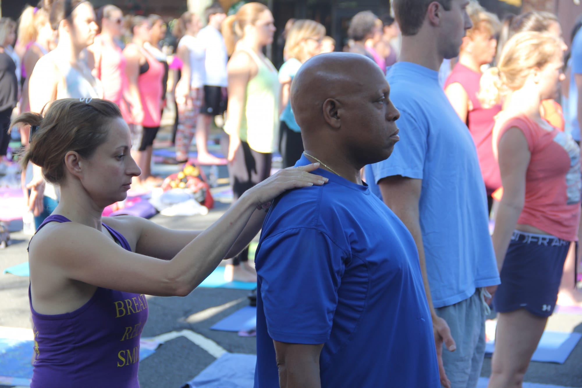 Om Street 2015, presented by West Hartford Yoga on LaSalle Road, July 25, 2015. Photo by Amy Melvin