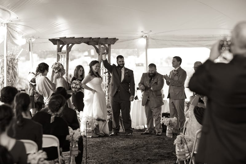 Brie Johnston and Nick Wolf were married at Rosedale Farms & Vinyard in Simsbury. Photo by Paul and Krystal McNearney