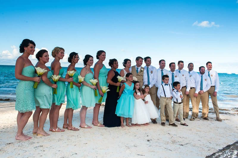 Catarina Rodrigues & Scott Kickery were married in Punta Cana, Dominican Republic. Photo by Adventure Photos