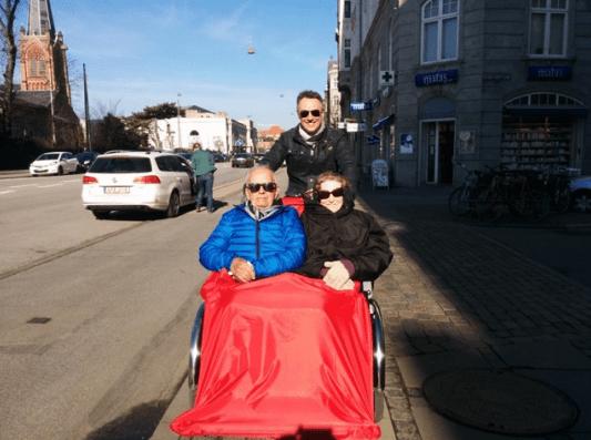 An couple enjoys a rickshaw ride. Courtesy photo