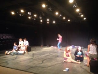 Hall High School Theater students rehearsing their piece for the Edinburgh Fringe Festival. Photo by Katie Cavanaugh.