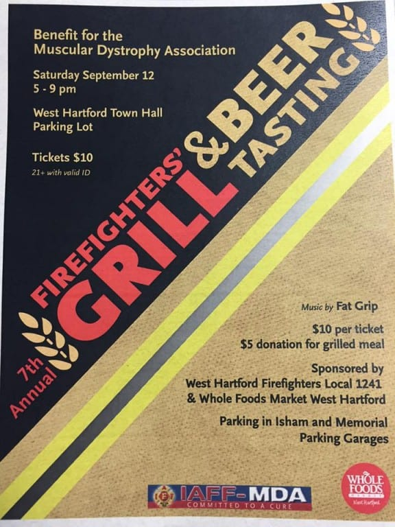 grill and beer tasting flier