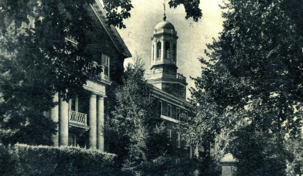 The original Gallaudet Building at the American School for the Deaf. Photo courtesy of West Hartford Historical Society