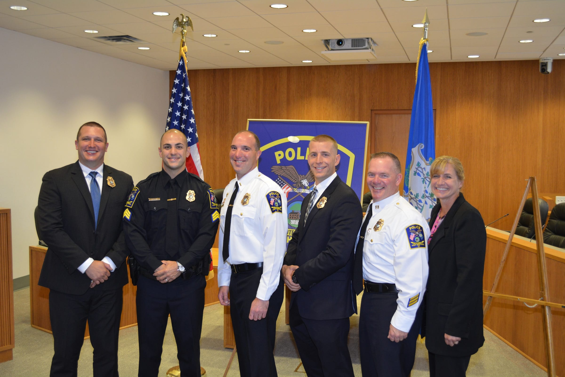 West Hartford Police Celebrate Promotions and Retirement
