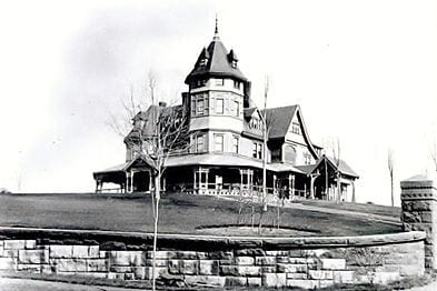 The Vanderbilt Mansion. The stone wall bordering the estate still stands as part of the West Hill Drive Historic District today. Courtesy photo