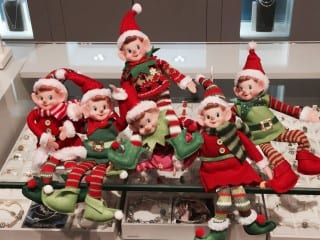 These elves and their friends will be hidden in stores throughout West Hartford Center. Find them, and enter to win fantastic prizes. Photo courtesy of Barbara Karsky