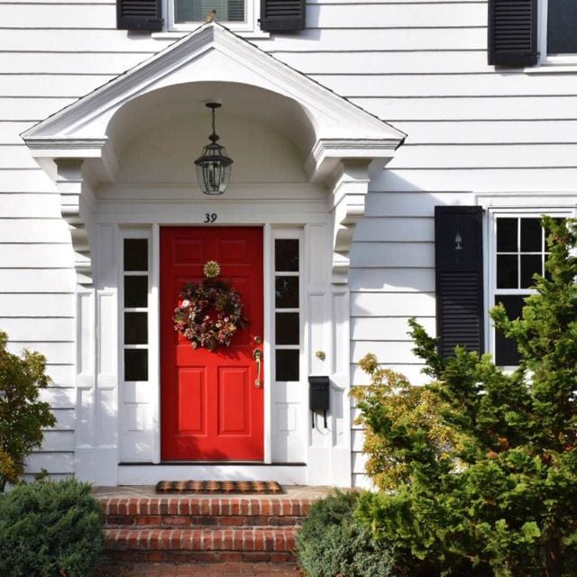 Red Front Door: An Easy Formula For Dressing Up Your Front Door