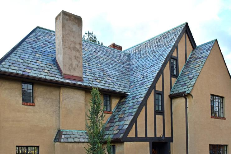 This Tudor has such an interesting roofline, and again the stunning slate roof. Photo credit: Deb Cohen