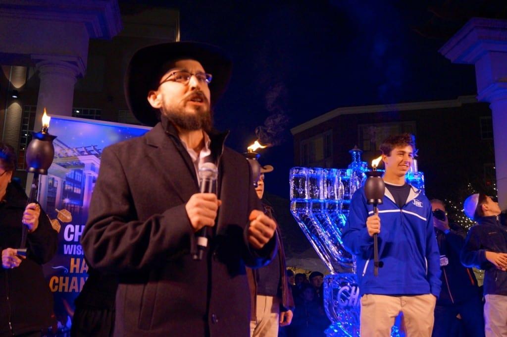 Rabbi Shaya Gopin. Chabad of Greater Hartford's 'Fire on Ice,' Dec. 6, 2015. Photo credit: Ronni Newton