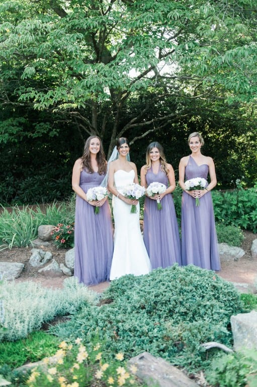The wedding of Jessica Leone and Michael Parillo. Ladies of Honor with Jessica are: Meghan Hall, Jamie Carlson, and Bridget Richard. Photo credit: Alison Lassiter and Julie Morawski