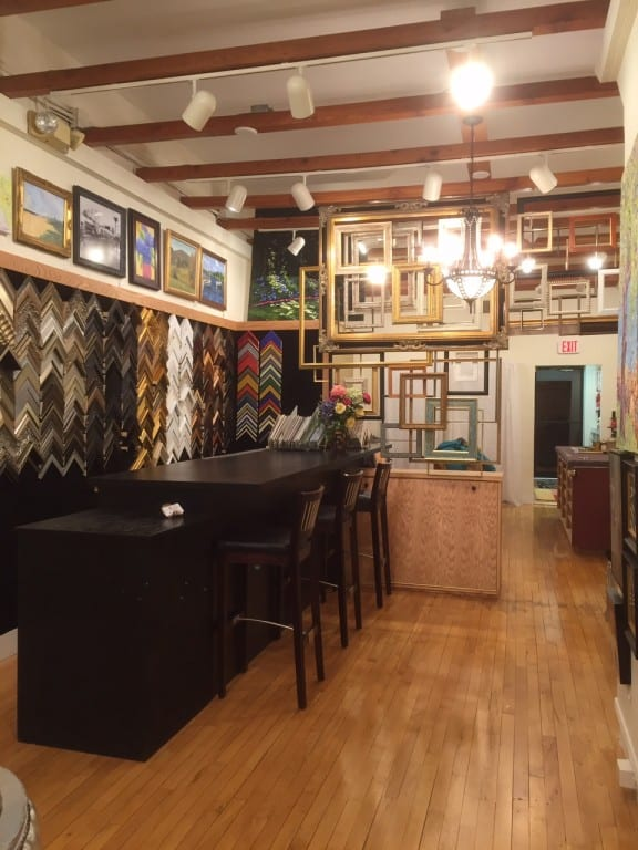 Interior view of the new Center Framing & Art store. Photo courtesy of Lori Chozick