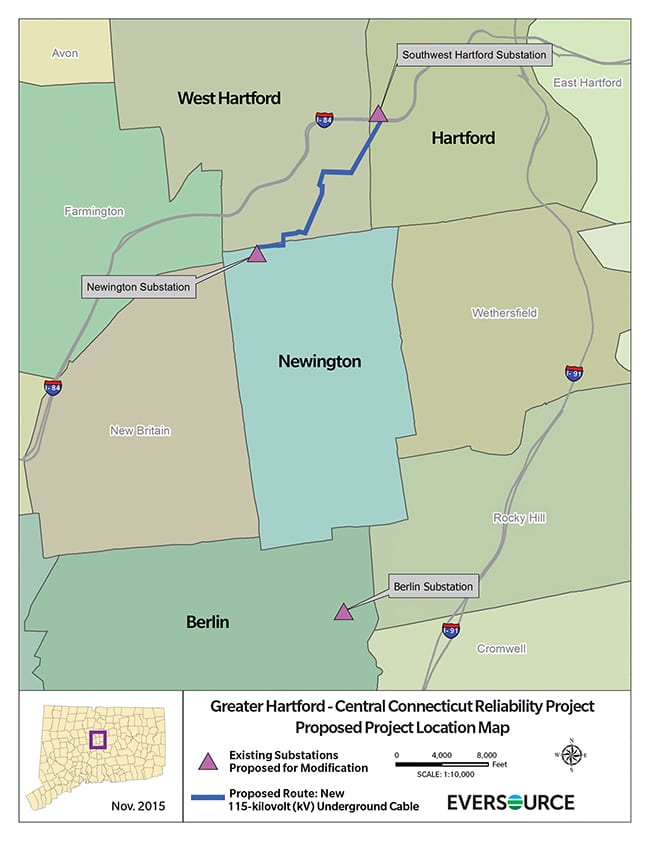 New Eversource Transmission Line To Pass Through West Hartford