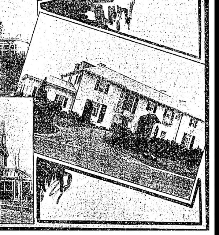 A horribly grainy photo of the original 1161 Prospect Ave. home built by the Robinsons (Source: Hartford Courant)