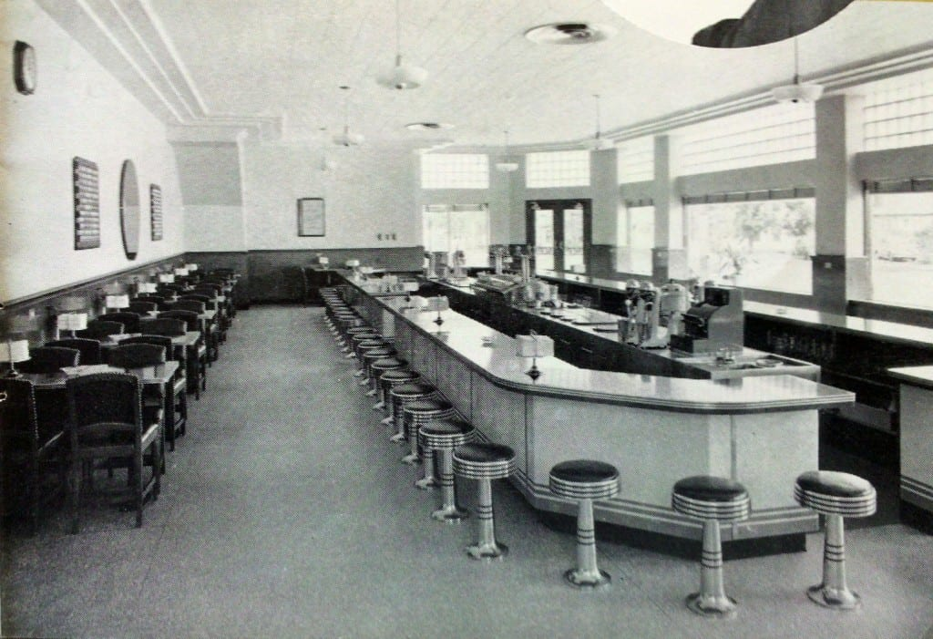 The original interior of AC Petersen Farms from 1939. Some of the elements still remain today. Image courtesy of Catherine Denton