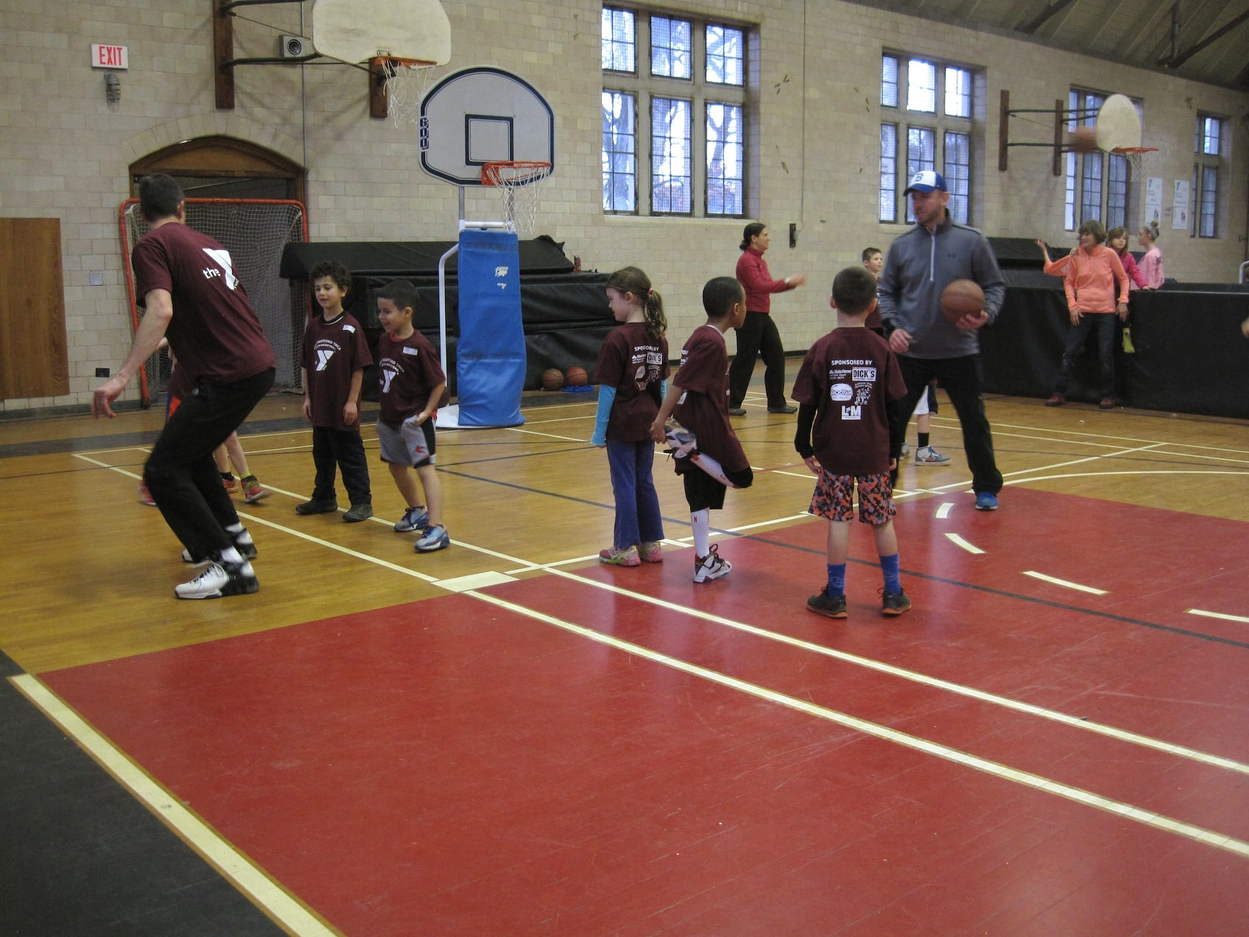 west hartford ymca youth basketball participants enjoy winter