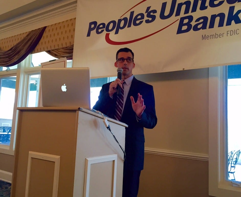 Director of Community Services Mark McGovern gave his annual Economic Development Update at the Chamber of Commerce luncheon Thursday. Photo credit: Ronni Newton