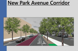 Rendering of proposed updates to New Park Avenue. Courtesy of Mark McGovern