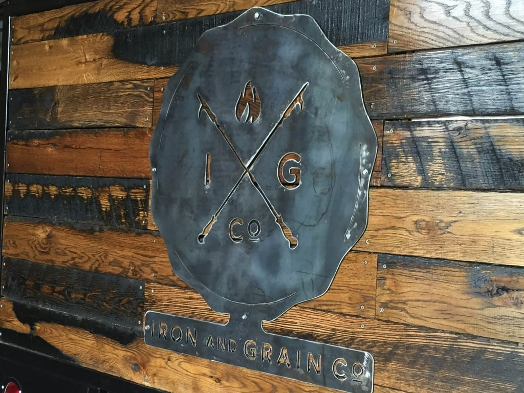Iron & Grain's logo is a fusion of metal and wood. Courtesy photo