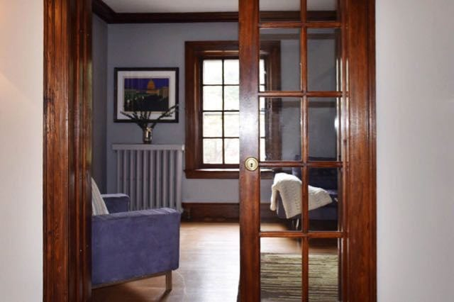 Pocket doors slide in and out easily to close off various rooms. Photo credit: Deb Cohen