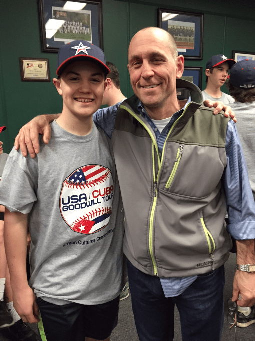 Ben Giroux (left) and his dad, Luke Giroux, said they are thrilled about the opportunity to travel to Cuba. Photo credit: Ronni Newton