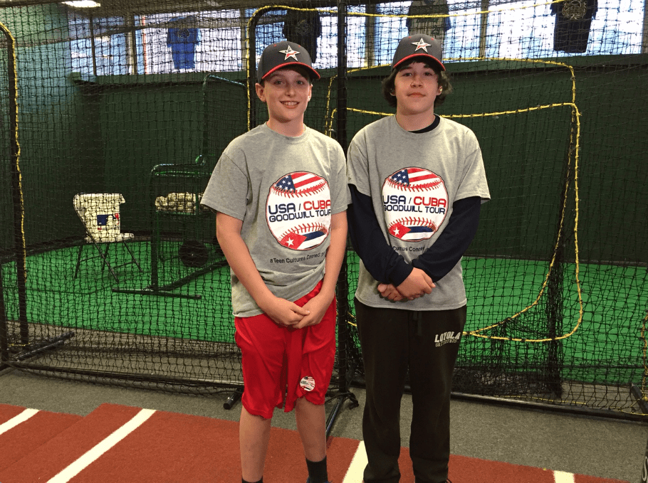 Jack Brennan (left) and Brian Kenna said they have been practicing baseball and learning Spanish in preparation for travel to Cuba. Photo credit: Ronni Newton