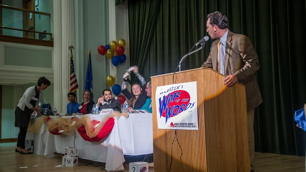 NBC Connecticut's Brad Drazen returns as emcee, and as a contestant for the 2016 Webster's War of the Words – the definition of dinner and a show! Courtesy photo