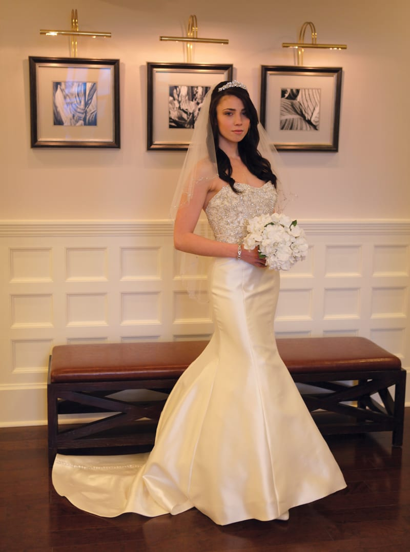West Hartford Magazine's spring 2016 fashion pages put the spotlight on formal wear with help from Oscars Tuxedo and Argelia Novias Bridal. Photo by Todd Fairchild