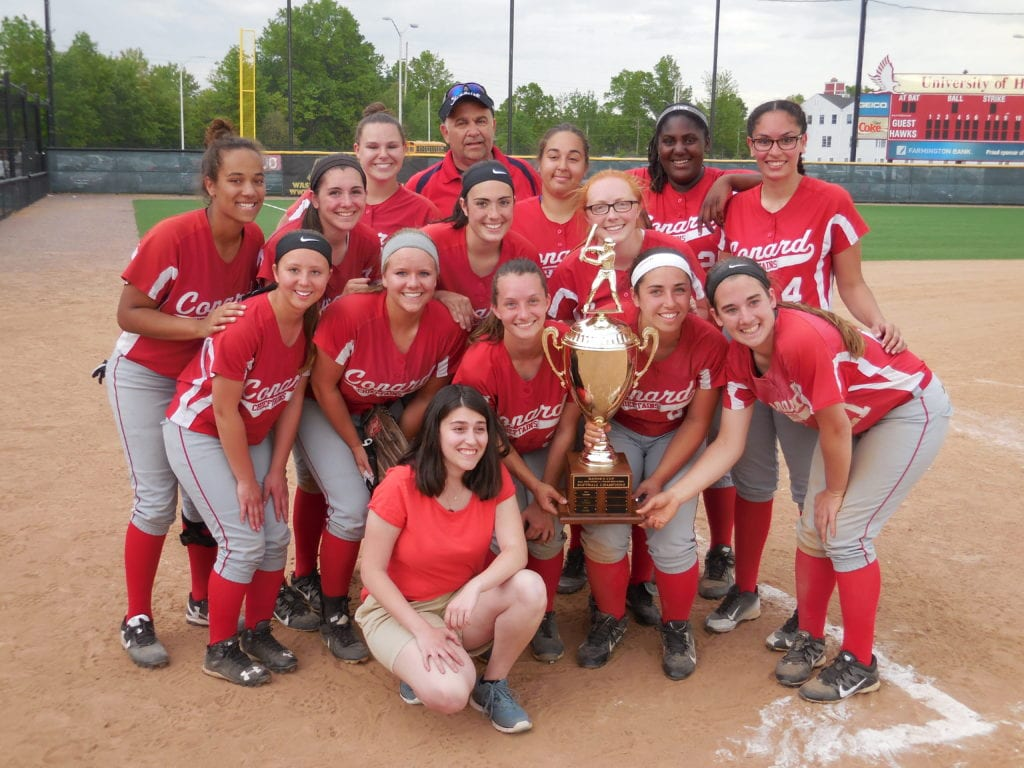 Conard softball team with the Mayor's Cup trophy. May 23, 2016. Courtesy photo