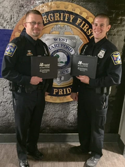 West Hartford Police Officers Win MADD Award - We-Ha   West